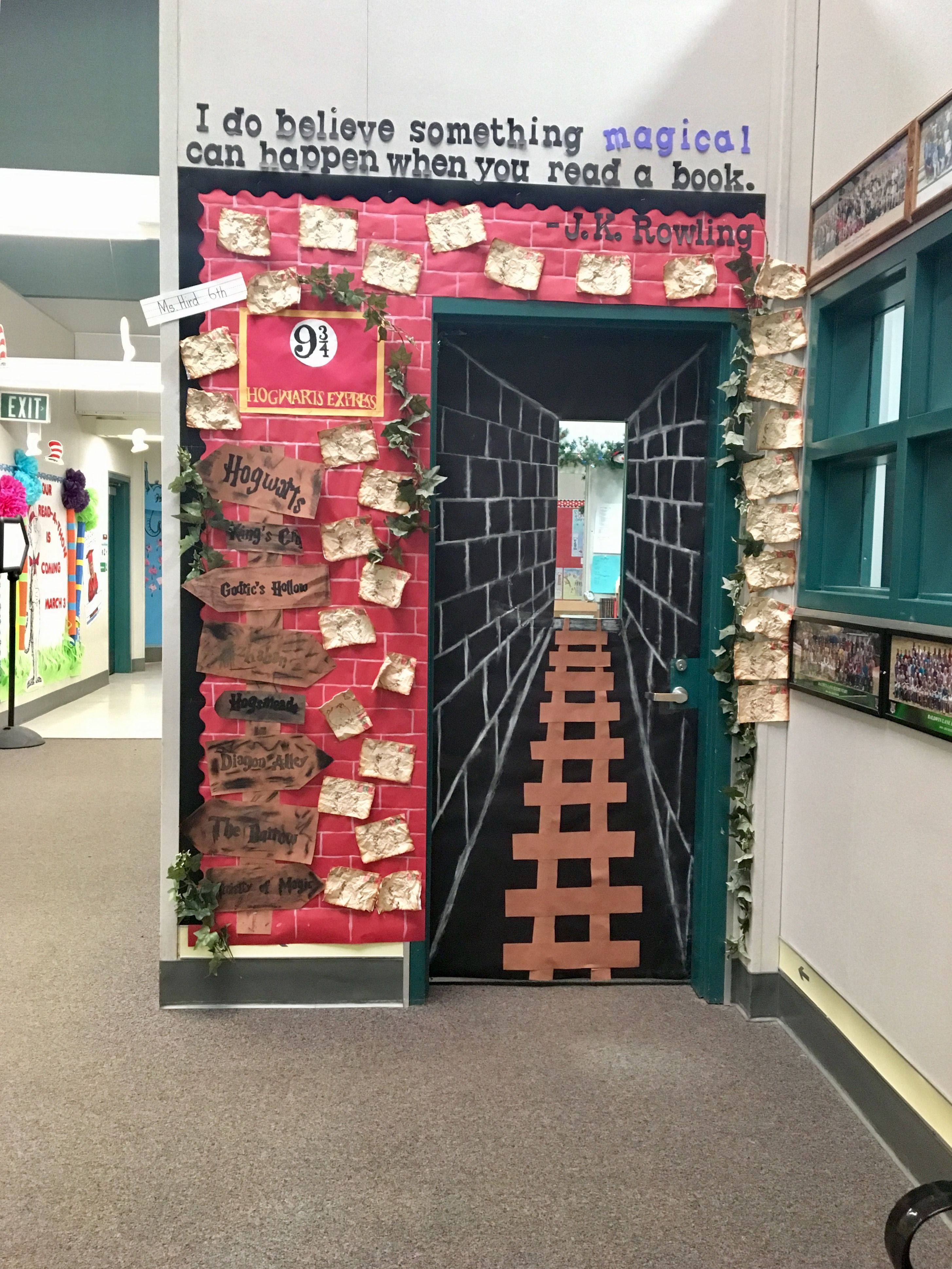 Harry Potter Display Read A Thon Door Harrypotter 6thgrade Platform9and3 4