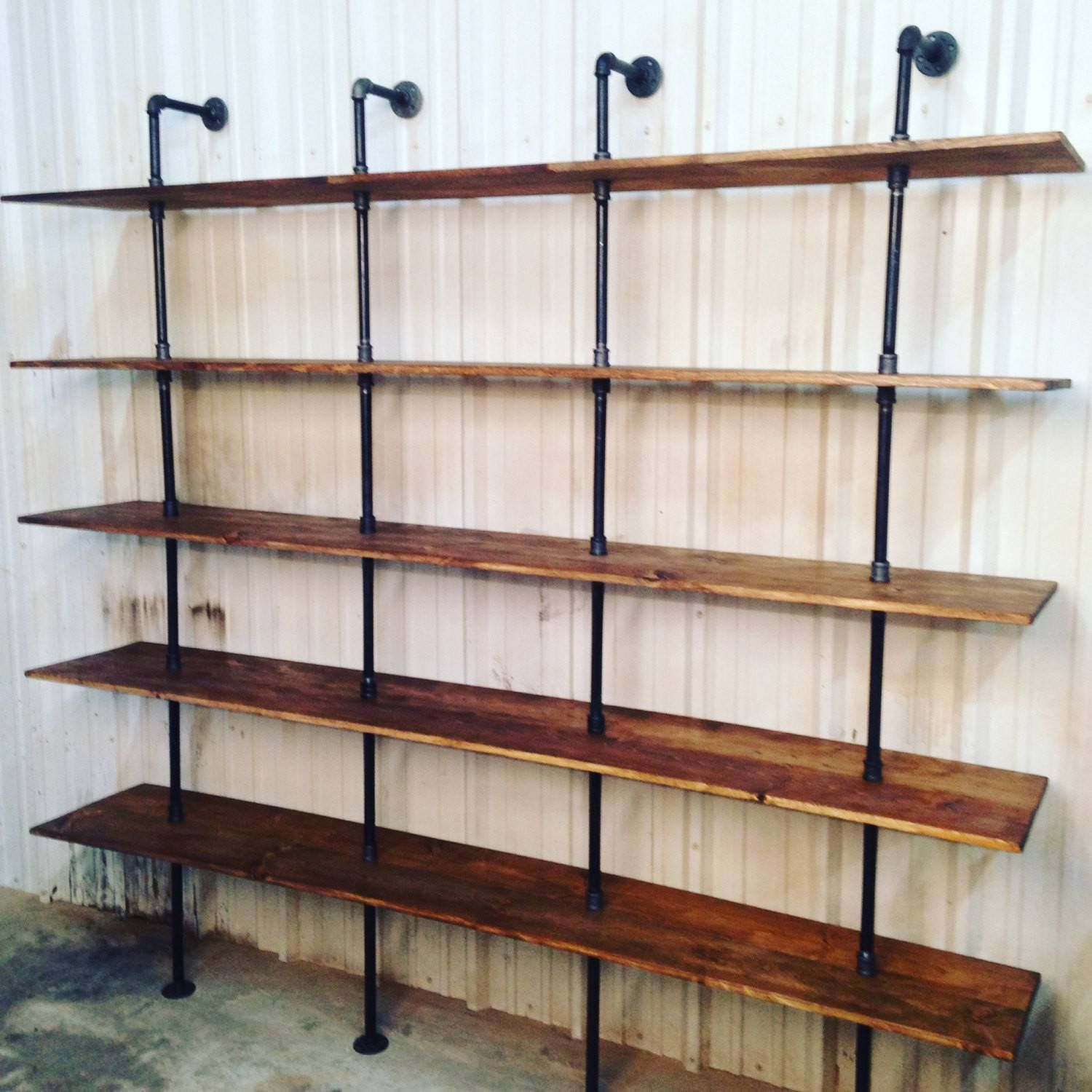 Industrial Wall Shelving Units Modern Industrial Shelf Unit Industrial Shelves Pipe