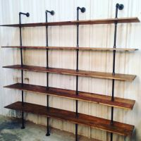 Modern industrial shelf unit | Industrial shelves, Pipe ...