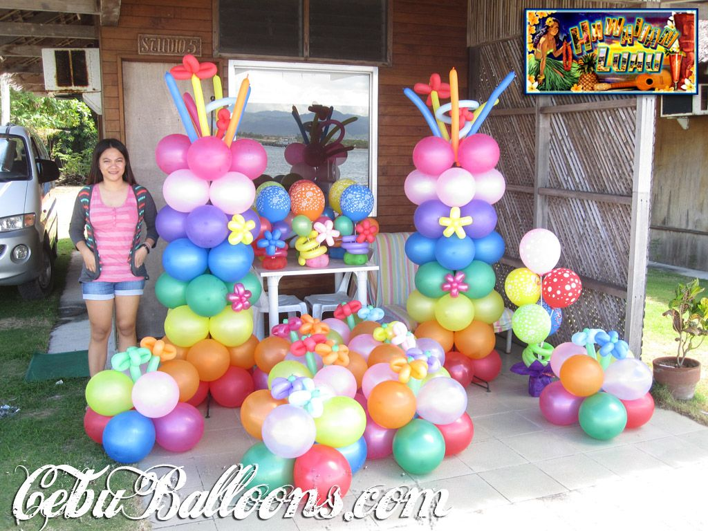 Luau party ideas balloon decoration packages cebu balloons and party supplies