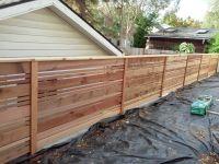 Horizontal wood fence design in portland oregon. This ...