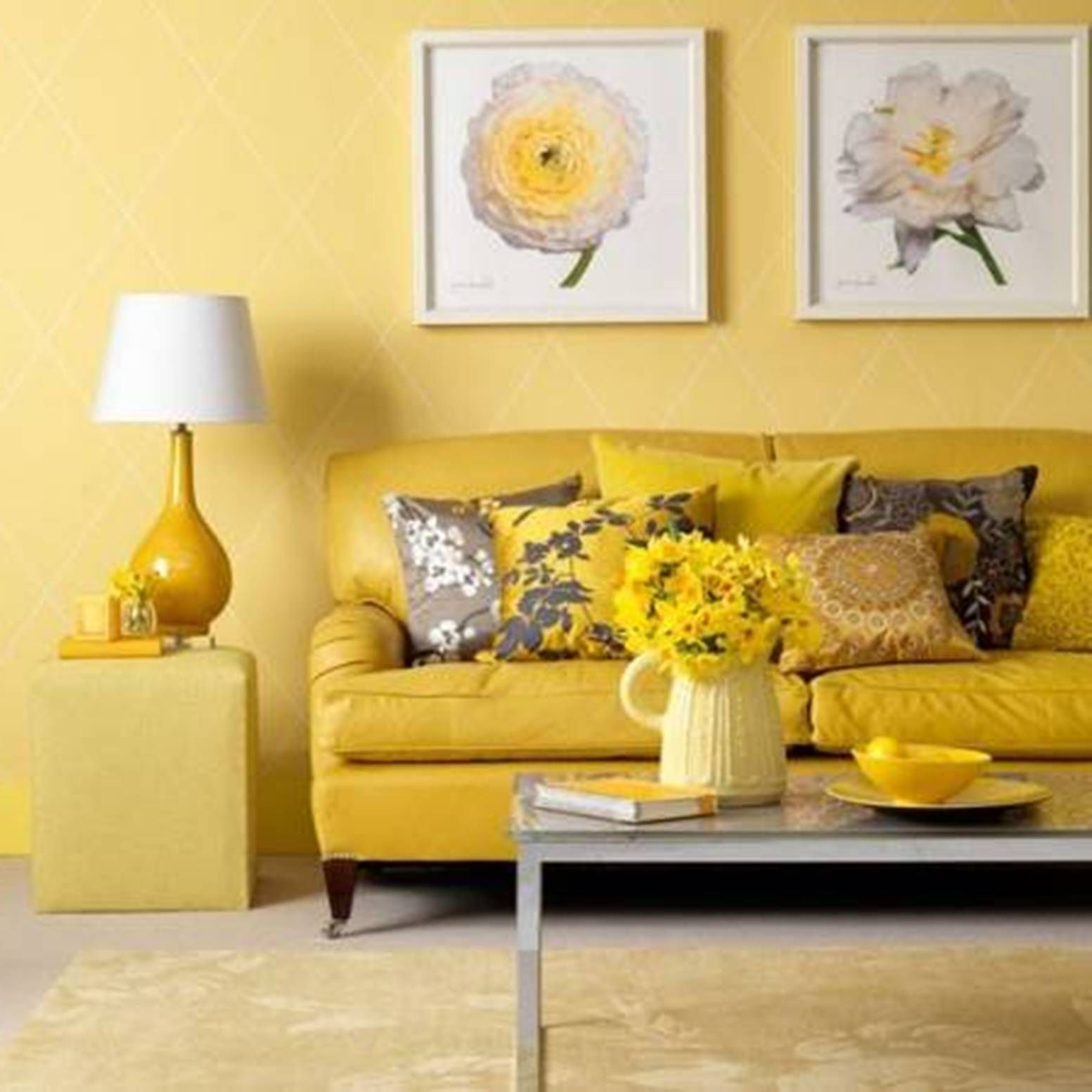 Yellow Accents Home Decor Fresh Living Room Paint Ideas For Your Wall Remodeling