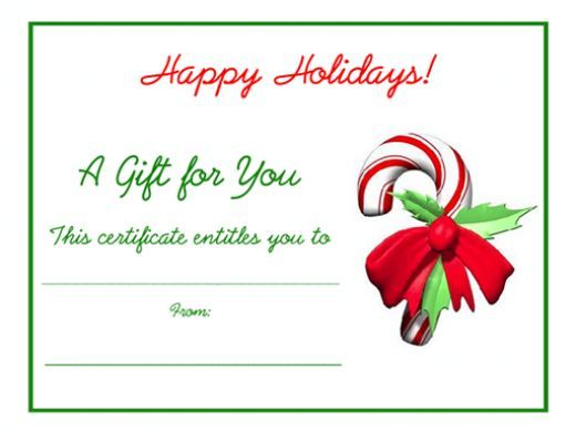 Free Holiday Gift Certificates Templates to Print Gift - free printable christmas gift certificate