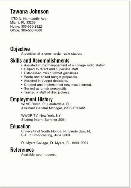 http\/\/resumeansurc\/basic-resume-examples\/ Basic Resume - examples of a basic resume