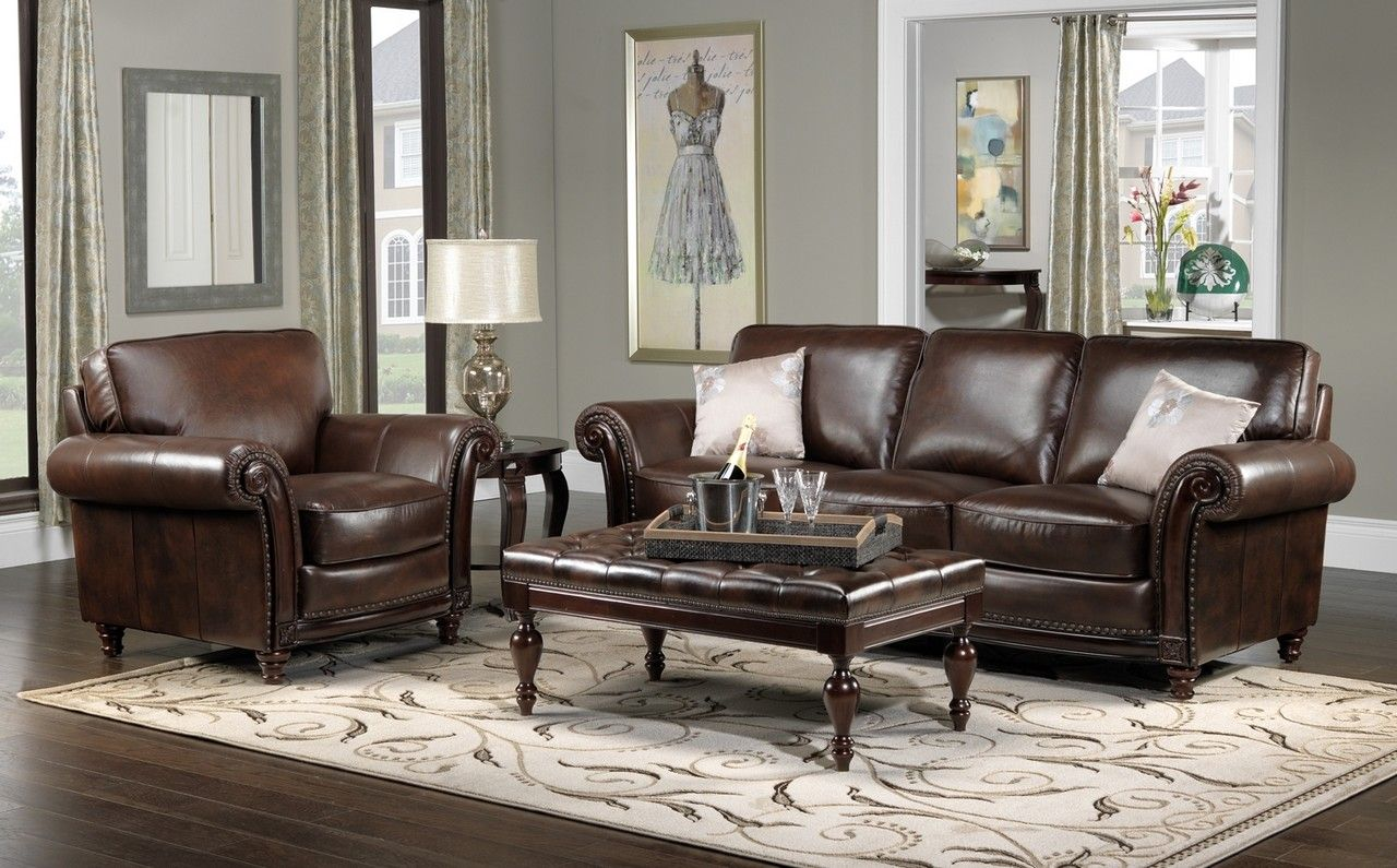 Color Schemes For Living Rooms With Brown Leather