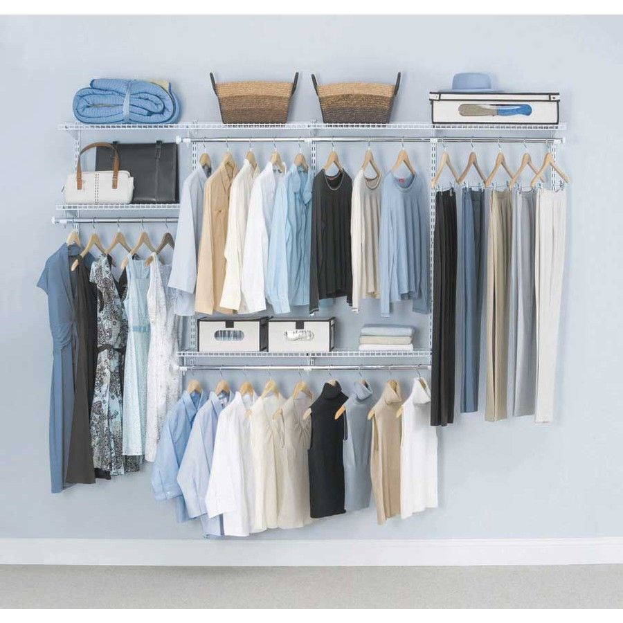 Shop rubbermaid homefree series 8 ft adjustable mount wire shelving kits at lowes com