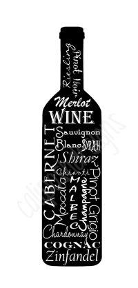 Wine Bottle Subway Art Wall Decor on Gallery by ...