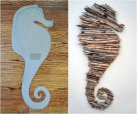 sea-horse-driftwood-decor-wall-beach-house | Beavers ...
