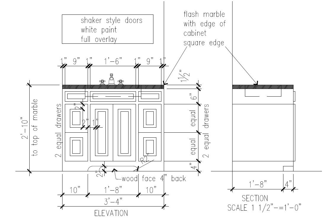 Simple Kitchen Elevation cabinet section detail drawings kitchen cabinet section drawing jpg
