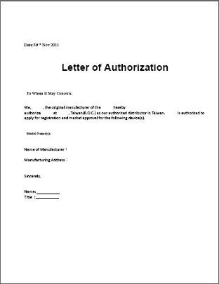 authorization letter sample template for claiming - authorization letters sample