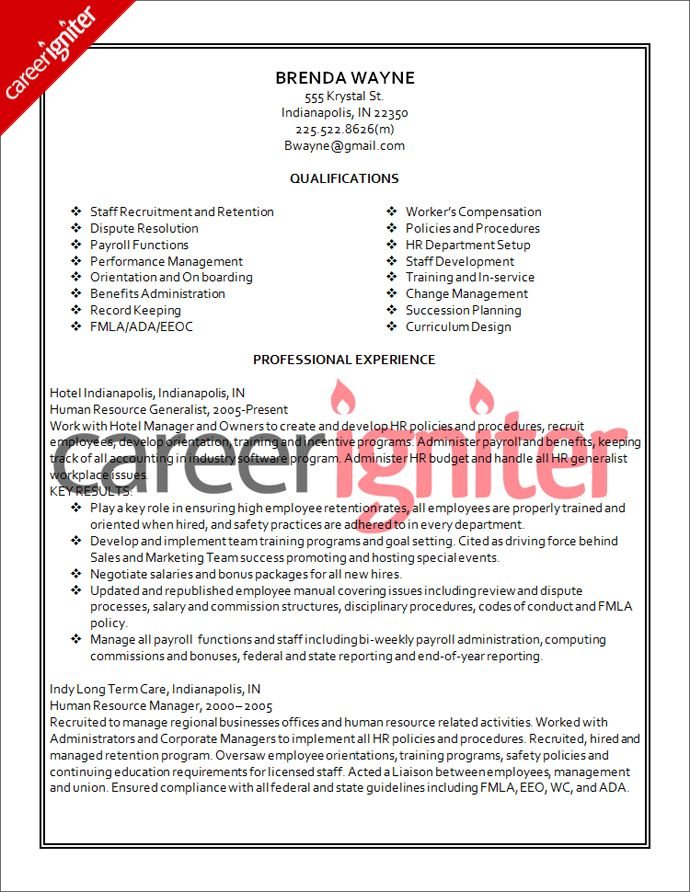 sample resume for generalist sample resume generalist human sample ...