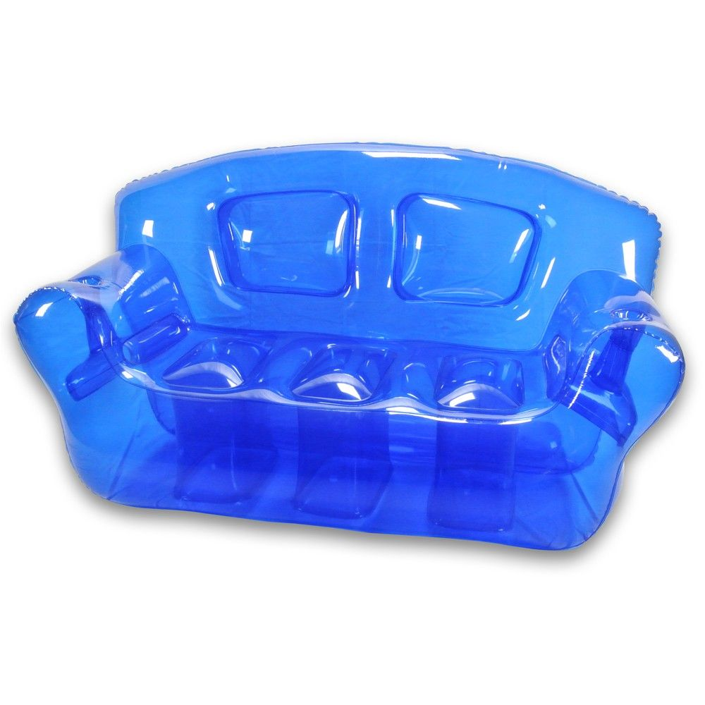 Ocean blue inflatable bubble couch