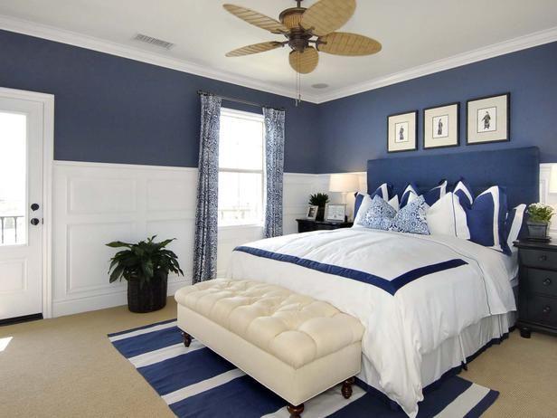 Cobalt Blue Bedroom  Studio Design Group  Bedrooms  Pro - nautical bedroom ideas