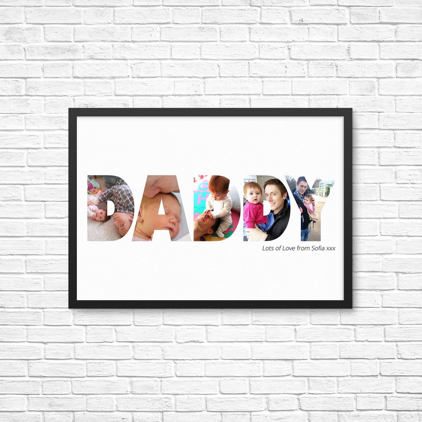 Geschenk Für Papa Basteln Personalized Gift For Him Daddy Dad Custom Photo Art