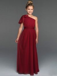 One Shoulder Junior Bridesmaid Dress JU001 | Flower girl ...