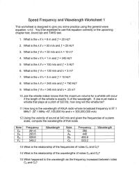doppler effect worksheets | Coach H's Science Classes ...