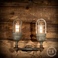 Vintage Industrial Double Explosion Proof Wall Sconce ...