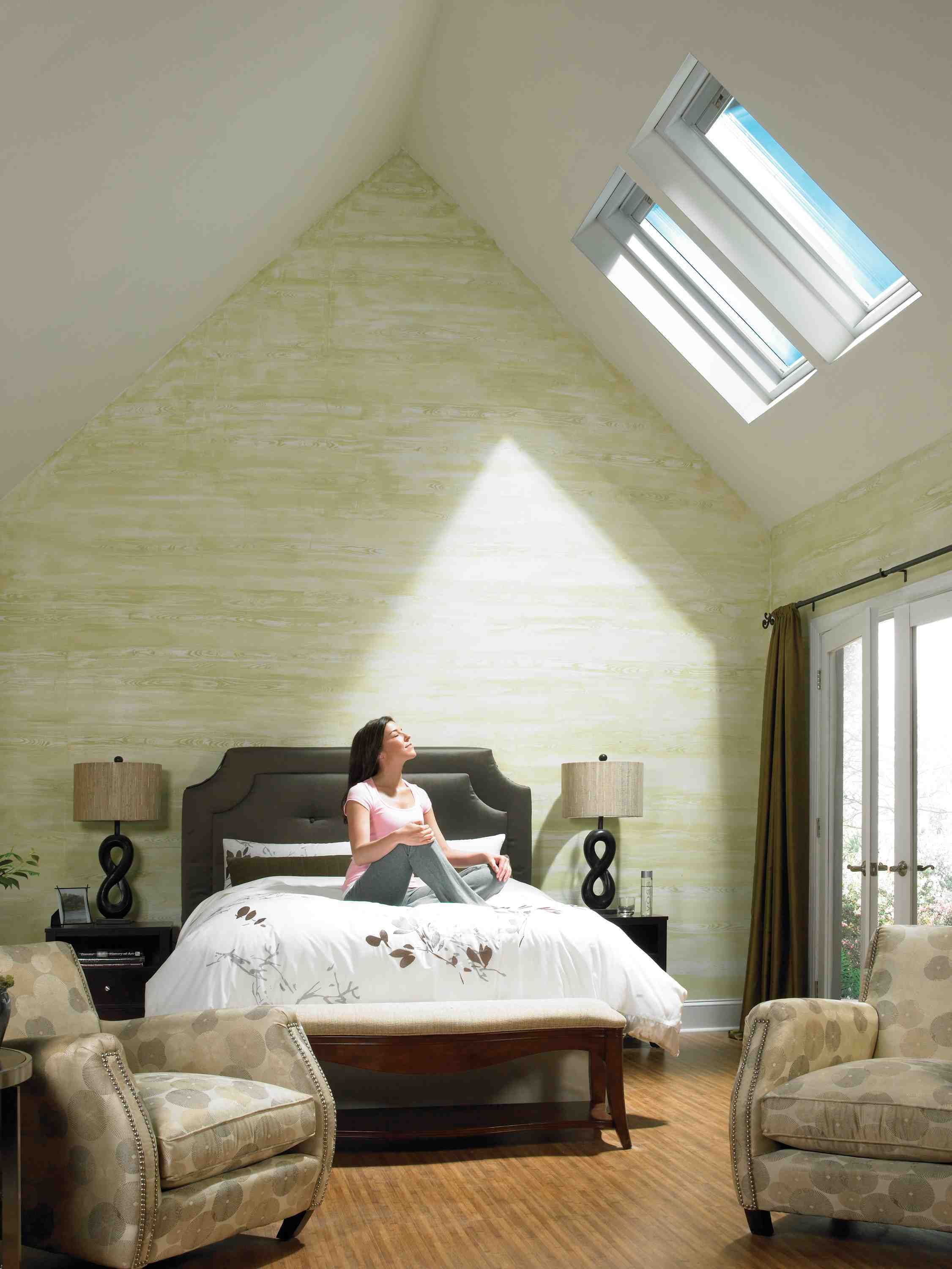 Bedroom Skylight Living Room For Sunlight Attic Bedroom Interior