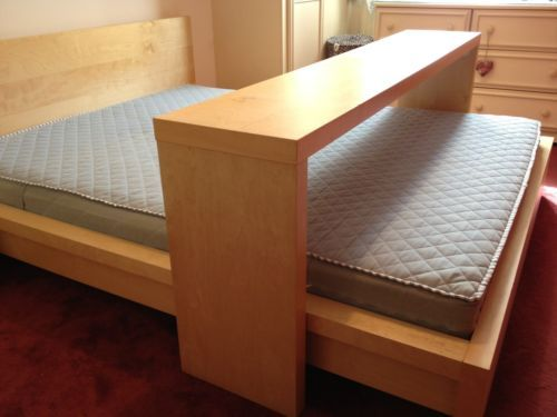 Overbed Table Ikea Ikea Malm Kingsize Bed With Mattress And Sliding Overbed
