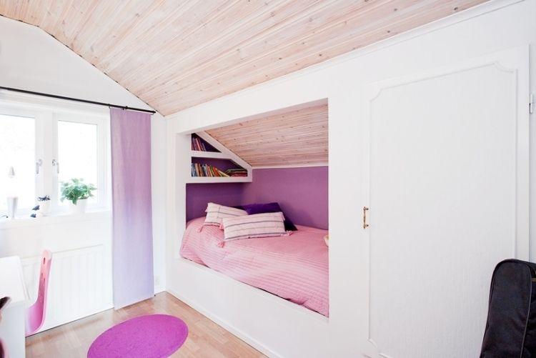 Kinderzimmer mit Dachschräge - Leseecke und Einbauschrank Emelys - einbauschrank bei dachschrage mobel ideen bilder