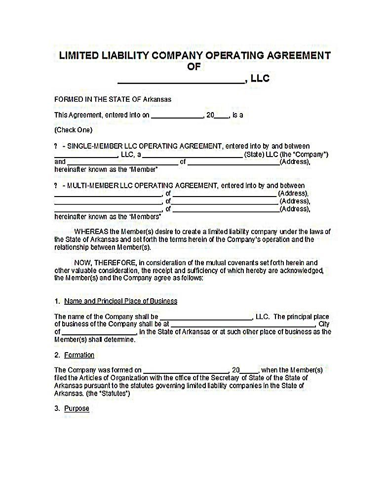 operating agreement llc ny , 23+ LLC Operating Agreement Template - business operating agreement
