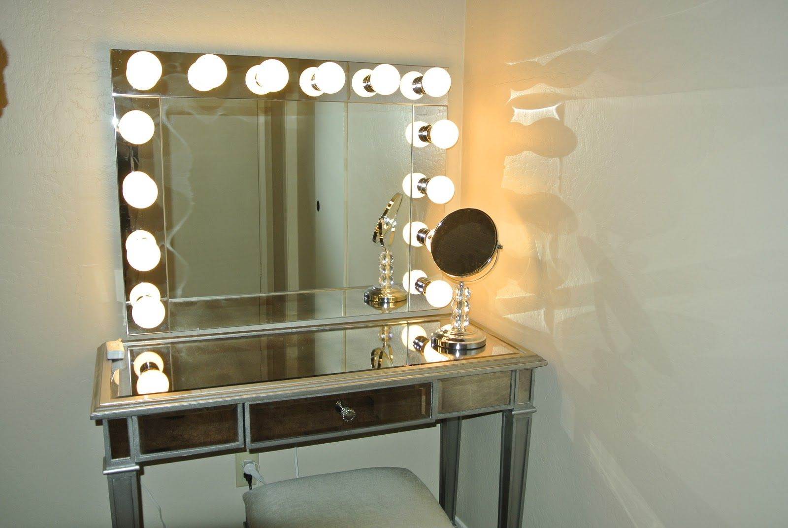 Bathroom Mirrors With Led Lights Sale Old Hollywood Vanity With Lights Brookes Blonde Reality