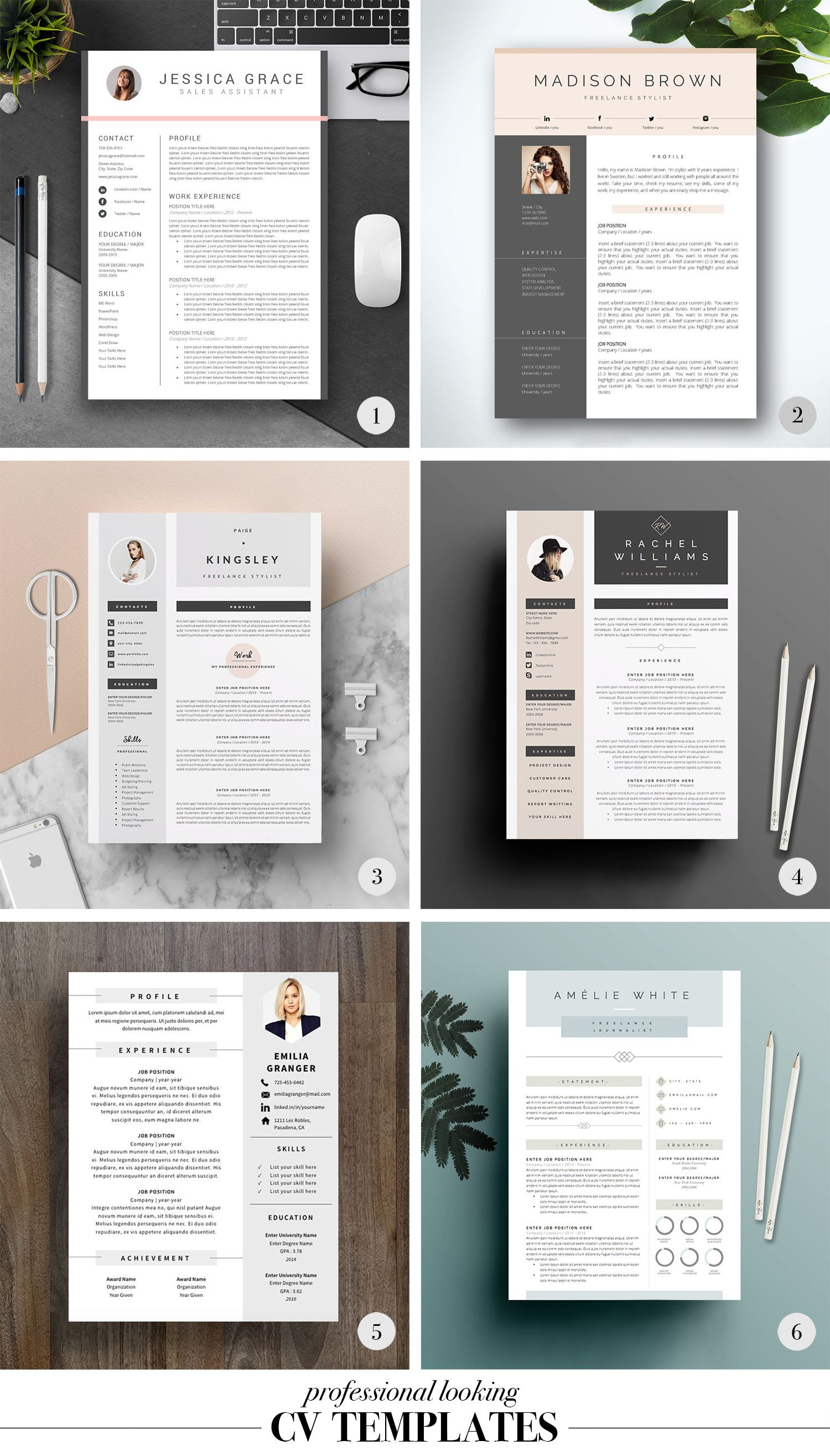 easy to complete cv templates