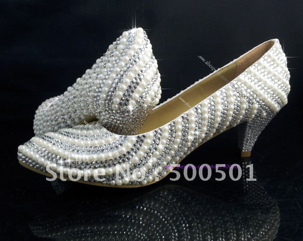 2 inch wedding shoes low heel wedding shoes Aliexpress com Buy 2 inch LOW HEEL WEDDING SHOES PEARL SWAROVSKI CRYSTAL BRIDAL PARTY