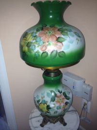 Hurricane Lamp Electric Antique Victorian Style Painted ...