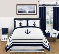 Nautical Anchor Full/Queen Bedding - 3 Pc Comforter Set ...