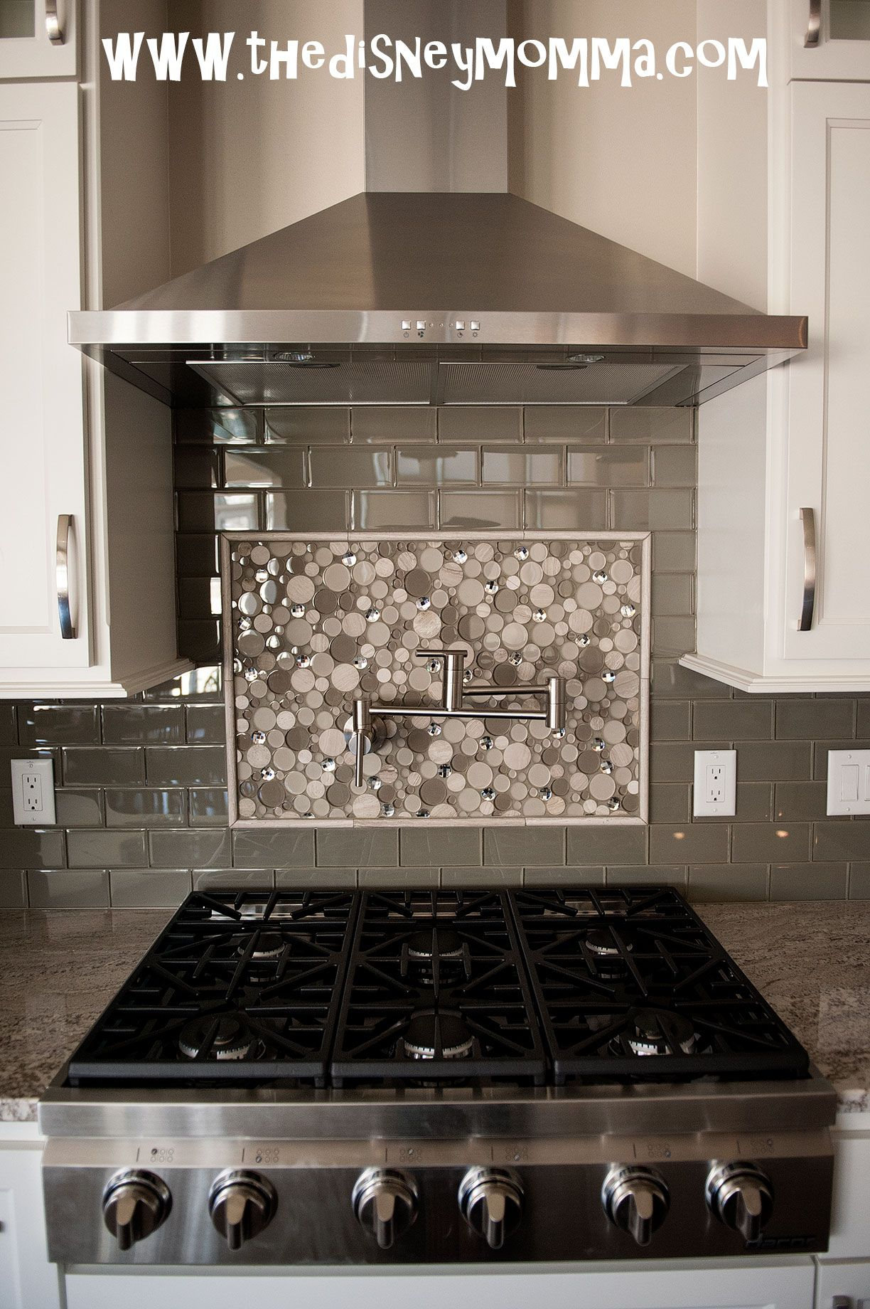 Backsplash Accent Ideas Dacor 36 Quot Gas Cooktop Glass Subway Tile Accent Back Splash