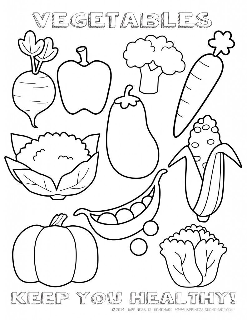 Healthy vegetables coloring page sheet printable i tried something new healthy eating reward