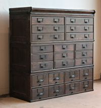 Antique Wooden 23 Drawer Storage Cabinet | Home Lilys ...