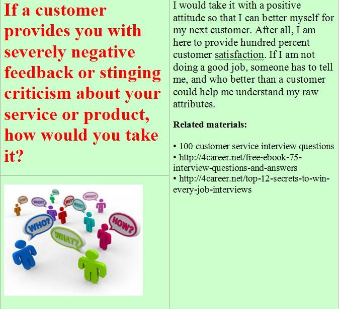 Related materials 100 customer service interview questions Ebook - customer service interview questions