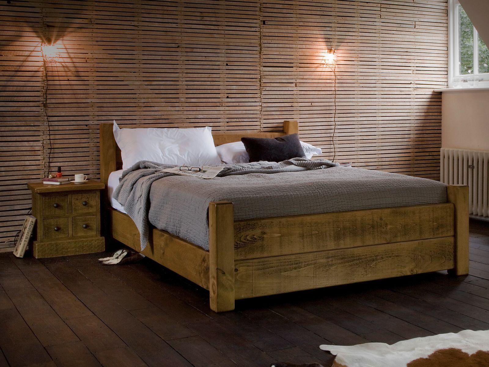 varnished maple loft bed