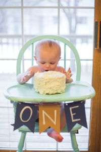 Mason's 1st Birthday | Painted high chairs, Smash cakes ...