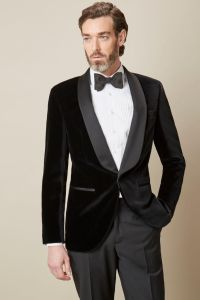 Shawl Collar Velvet Dinner Jacket |   ...