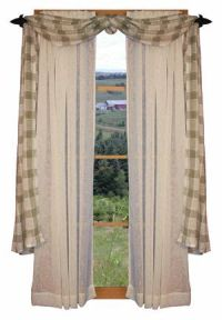 Country Window Treatment, Primitive Country Curtains