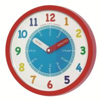 simple-colorful-children-wall-clock-round-shape-spelling ...