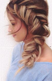 Side fish braid | Hair | Pinterest | Fish, Hair style and ...