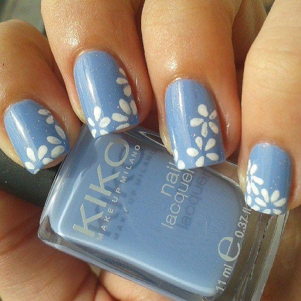 sky blue nail designs