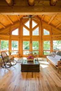 Triangle window living room traditional with ceiling fan ...