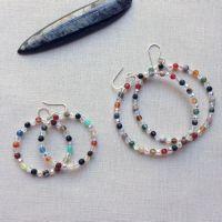 How to Make Beaded Memory Wire Hoop Earrings: Free ...
