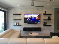 Espresso Floating Entertainment Center and Floating ...