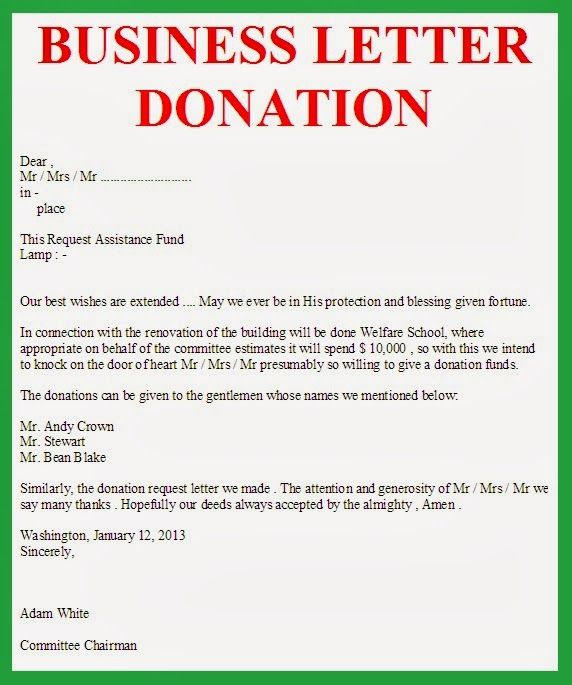 charity letters companies business letter reflection format - donation letter example