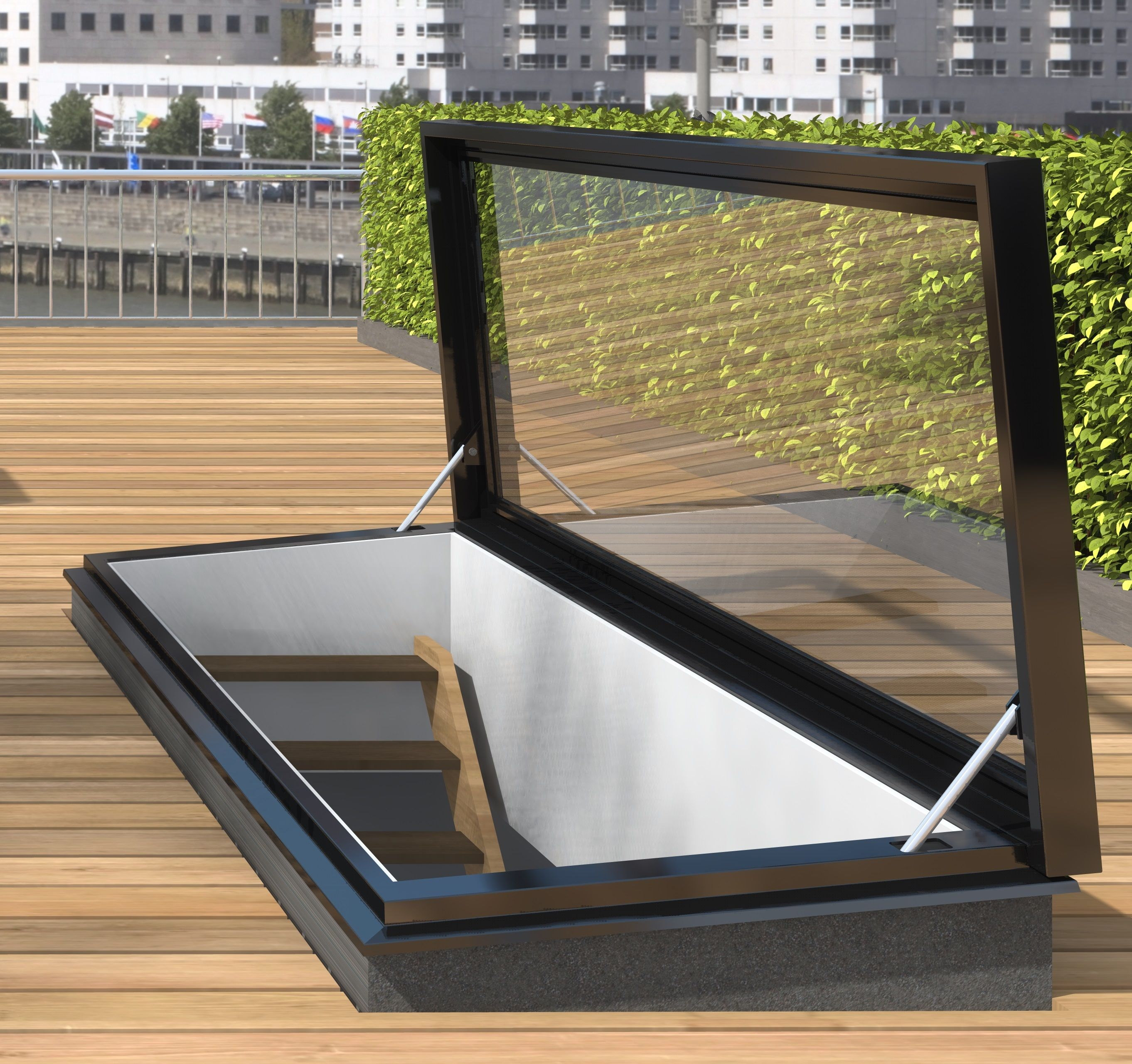 A roof access hatch with glass is the finishing touch to your enjoyment with optimum living