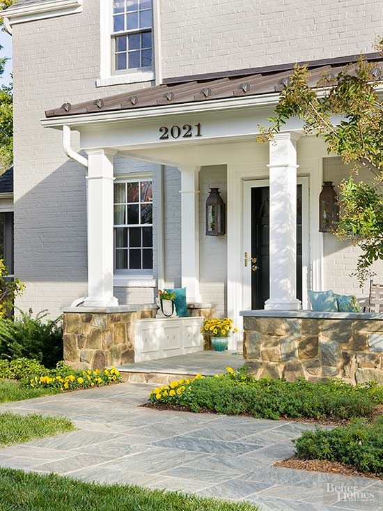 Front Porch Ideas 8 Stylish Ideas For A Small Front Porch | Ideas, Porches