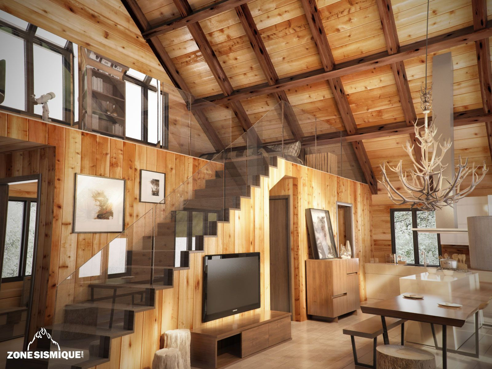 Photos De Decoration Interieur Stunning Interieur Chalet En Bois Photos Awesome