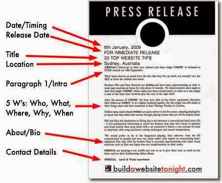 Performing Arts for Theatre and Film Press Release Template - press release template