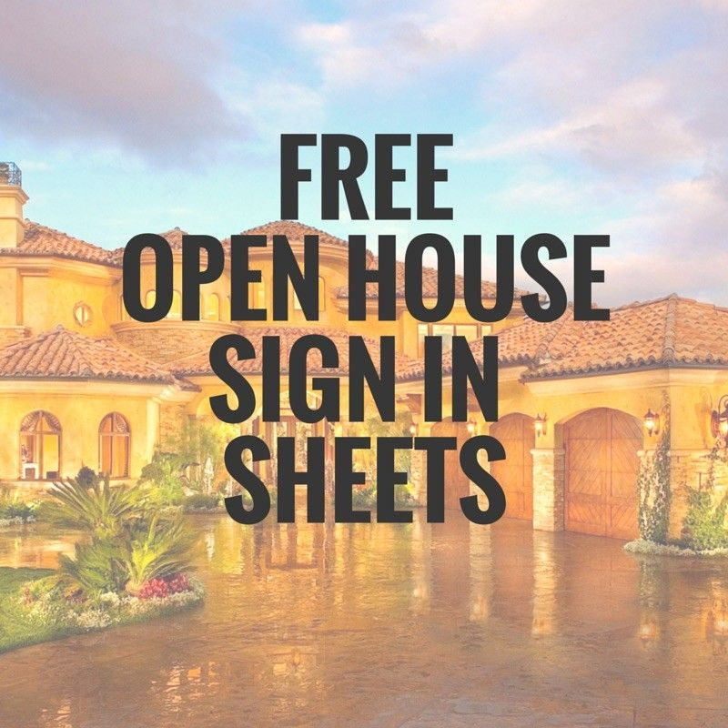 5 Simple Open House Sign In Sheet Templates For Realtors u2013 Edit - sample open house sign in sheet template